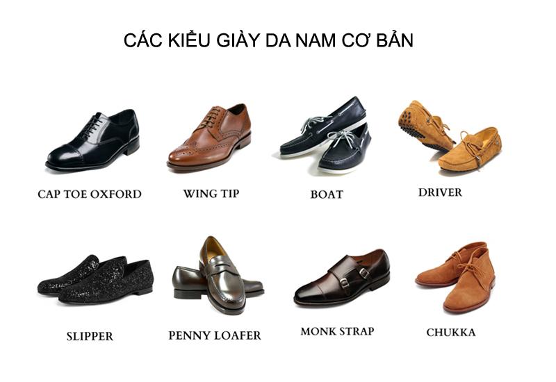 Các kiểu giày da cao cấp dành cho phái nam