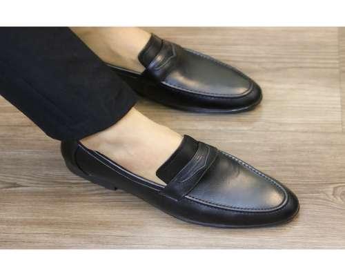 giày lười nam da bò - cá sấu minh châu