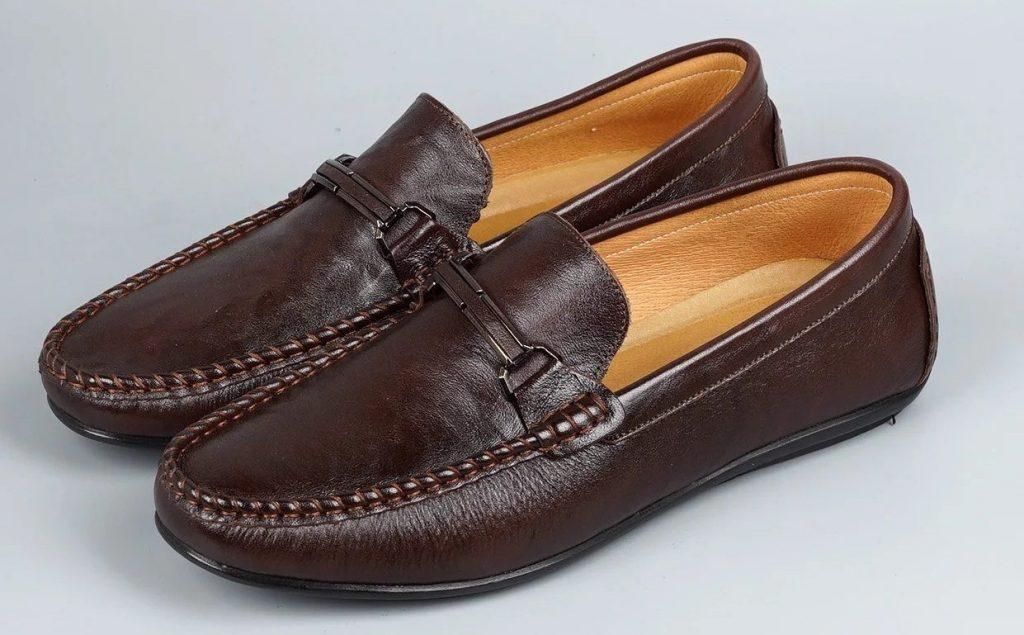 Giày lười da bò thật cao cấp