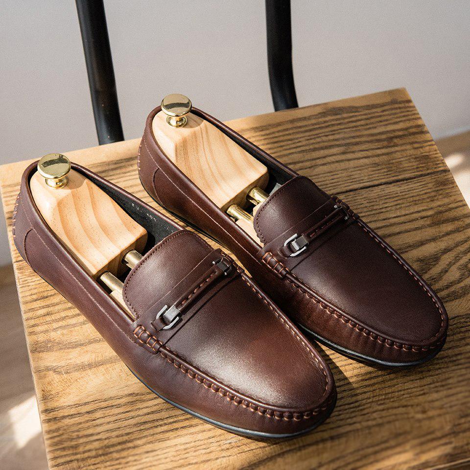 Giày da bò nam cao cấp, chính hãng
