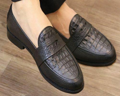 Giày lười nam da cá sấu số 1