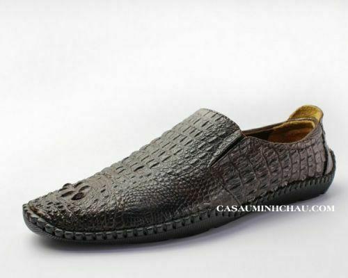 giày lười da cá sấu nam - cá sấu minh châu