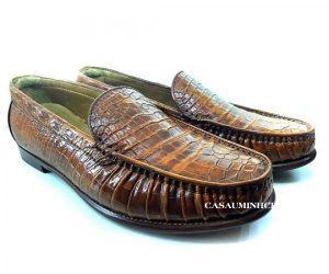 Giày mọi Patina da cá sấu cao cấp, sang trọng