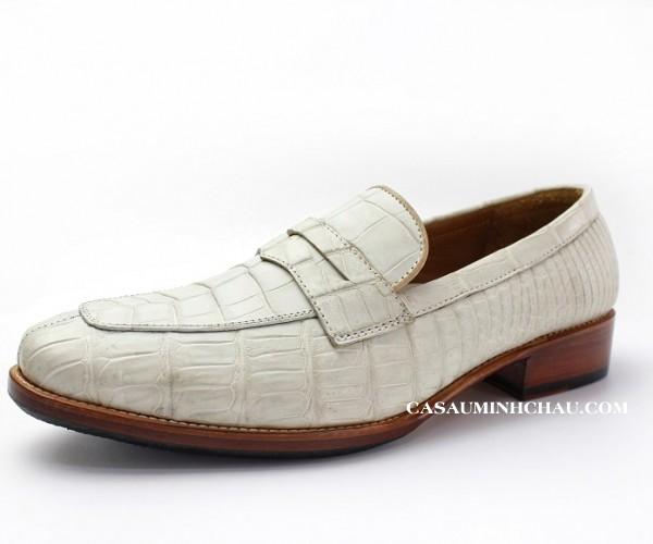 Giày tây da cá sấu đế da chính hãng, giá tốt