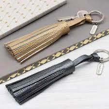 móc chìa khóa da bò handmade
