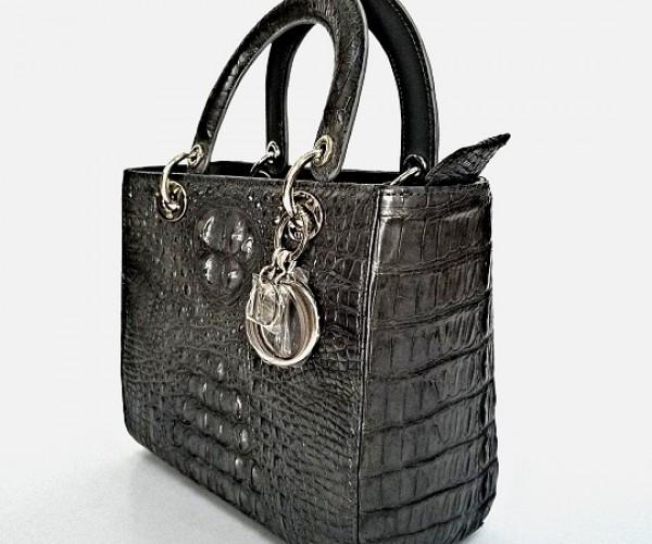 Phát cuồng với túi Dior da cá sấu cao cấp